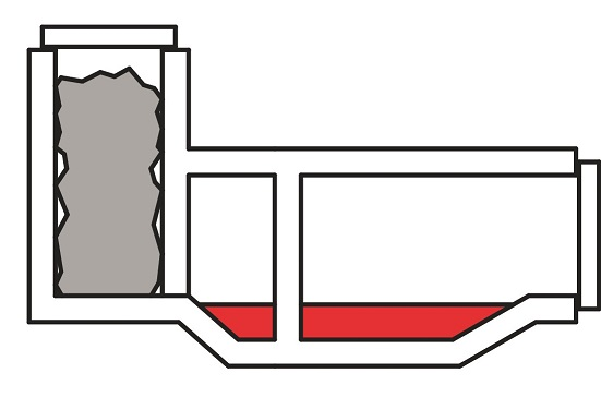 Schematic view of furnace