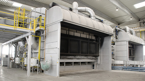 Two Ecomelt PR-120 furnaces (120 tons/day)