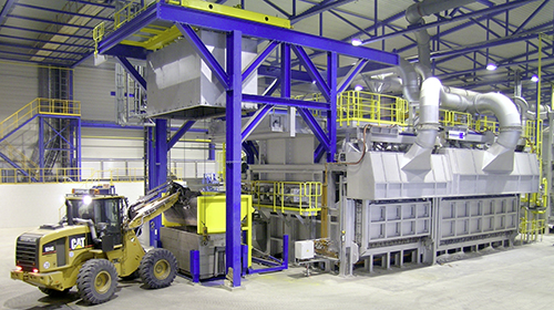 Ecomelt PS-160 furnace (160 tons/day)