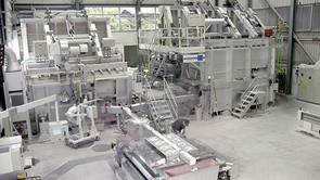 View on VDC casting plant, melting & casting furnace