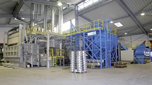 Melting furnace with chip preparation plant